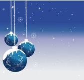Bolas de navidad adornado — Vector de stock