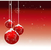 Ornamented Christmas balls — Stock Vector