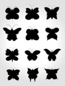 Set Butterfly — Stock Vector
