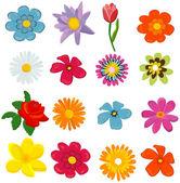 Set of flower graphics vector — Stock Vector