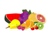 Fruit isolé sur blanc — Vecteur