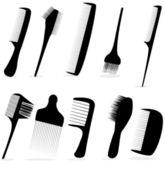 Collection beauty hair salon or barber comb vector illustration — Stockvektor