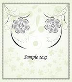Design floral abstrato — Vetor de Stock