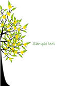 Abstract detailed eco tree vector illustration — Stock Vector