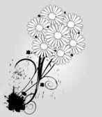 明るい花束のベクトル イラスト — ストックベクタ