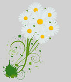 Vector illustration of bright bouquet — Stock Vector