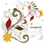 Vector elegant autumn leaves illustration — Stock Vector