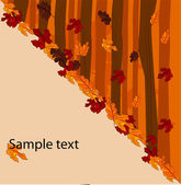 Autumnal concept background - vector illustration — Stock Vector
