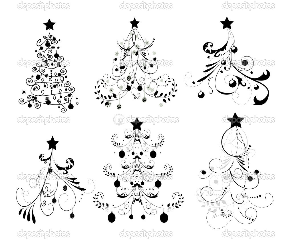 Set Christmas Trees — Stock Vector #5796733