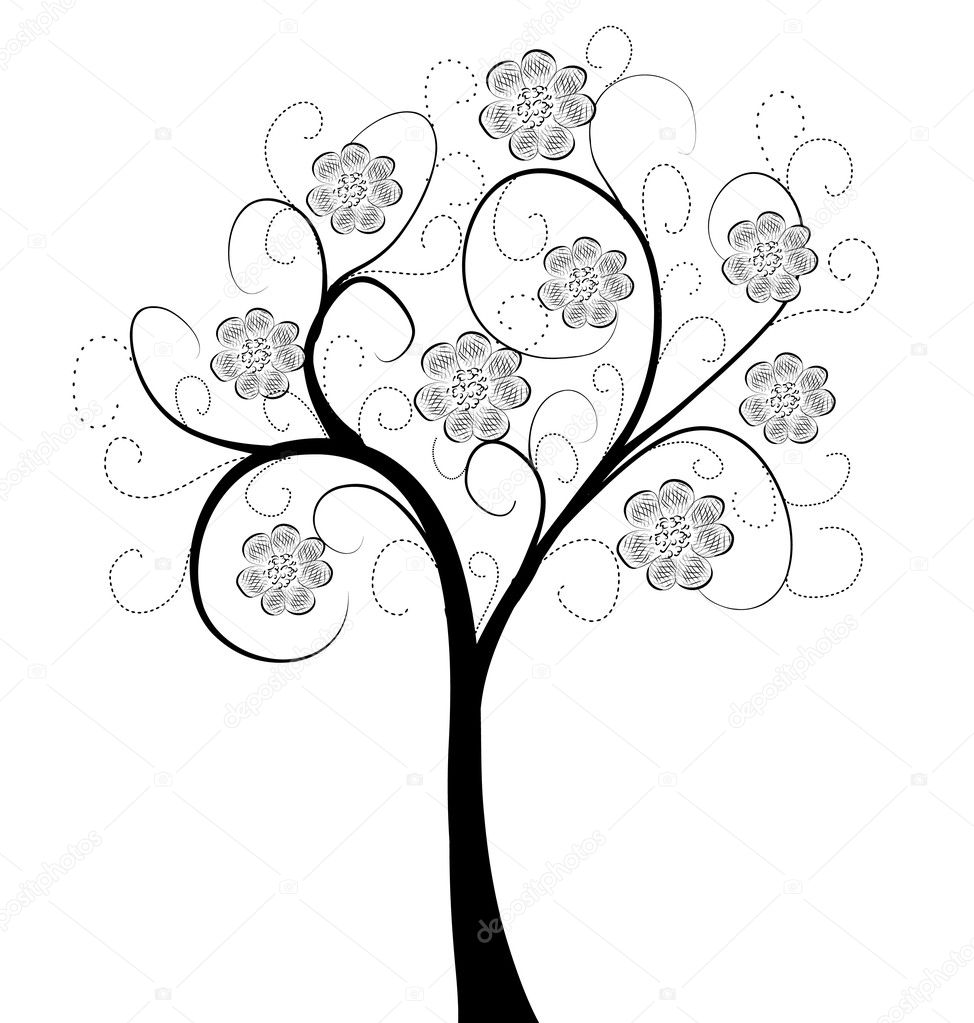 Art tree beautiful — Stock Vector #5797167