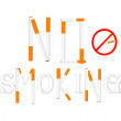 Royalty-Free Stock Vector Image: No smoking sign. Vector illustration.