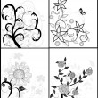 Stock Vector: Set of floral backgrounds