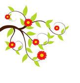 świeże zielone drzewo ilustracja. — Wektor stockowy