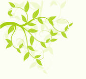 Abstract vector green leaves floral background. — Stock Vector