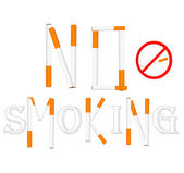 No smoking sign. Vector illustration. — Stock Vector