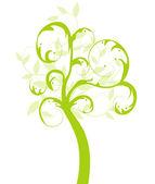 Vector ecology green tree — Stock Vector
