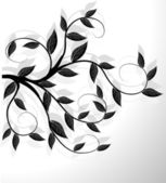 Abstract floral background. Vector. — Stock Vector