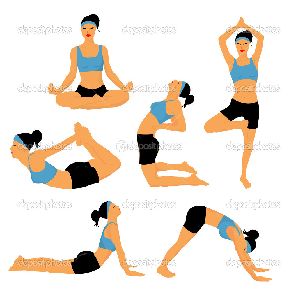 Yoga poses stock illustration
