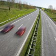 Overtaking on motorway - Stock Photo