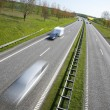 Speed on motorway - Stock Photo