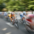 Speedy cyclists — Stock Photo