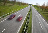 Overtaking on motorway — Stock Photo