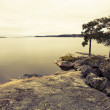 Stock Photo: Swedish lake retro