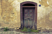 Old and beautiful door — Stock Photo