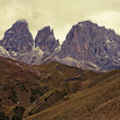 Pass of Sella Dolomites — Stock Photo