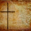 Cross on grunge wall — Stock Photo