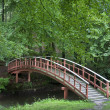 Footbridge in the park — Stock Photo