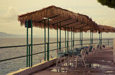 Beach cafe Croatia — Stock Photo