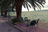 Cafe by teh Adriatic Sea — Stock Photo