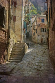 Picturesque alley Kotor — Stock Photo