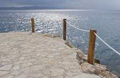 на берегу адриатического моря — Стоковое фото
