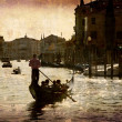 Sunset Canal Grande Venice - Stock Photo