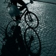 Late shopping cyclist — Stock Photo #5902495