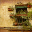Tiny balcony Lucca — Stock Photo