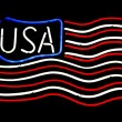 Usa in neon — Stock Photo