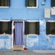 Blue home Burano — Stock Photo