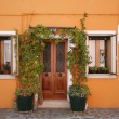 Orange house Burano — Stockfoto