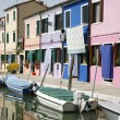 Colorful houses Burano — Stock Photo