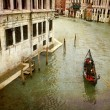 Gondola Grand Canal - Stock Photo
