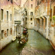Gondolas urban Venice - Stock Photo