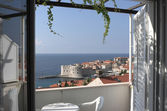 Room with view Dubrovnik — Stock Photo
