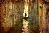 Gondola urban Venice — Stock Photo