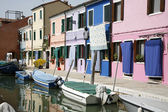 Colorful houses Burano — Stock Photo