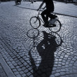 Cyclist in the sunshine — Stock Photo
