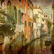Nice tranquil canal Venice — Stock Photo