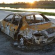 Burnt-out car after car theft. — Stock Photo #5963939